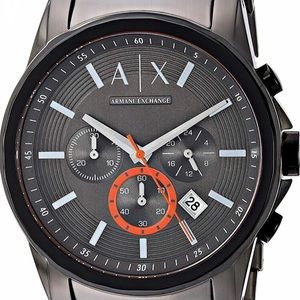 Armani Exchange men's grey stainless steel watch